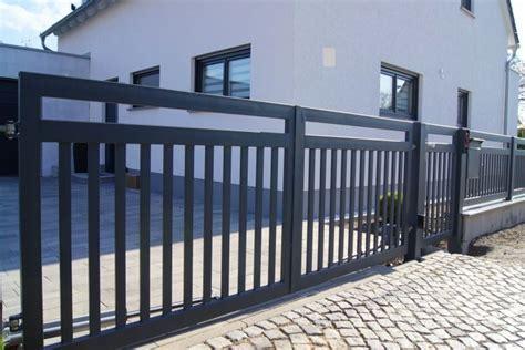 Zaun Anthrazit Modern Eindrucksvoll Gartenzaun Metall