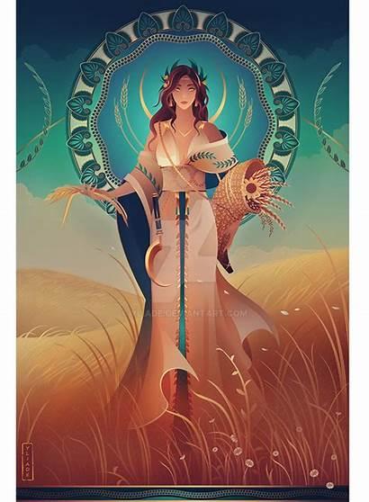 Demeter Greek Mythology Yliade Deviantart God Gods