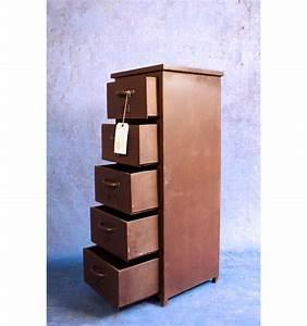 Meuble Colonne Tiroir : meuble colonne 5 tiroirs en acier vintage industriel utternorth ~ Teatrodelosmanantiales.com Idées de Décoration