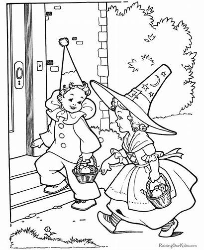Coloring Halloween Pages Happy Printable Fun Spooky