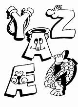 Alphabet Coloring Pages Funny Letters Printable Fun Alphabets Kleurplaten Letter Educational Education Sheets Alfabet Alphabeth Taal Sheet Chiffres Coloriages Coloriage sketch template