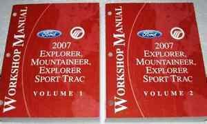 ford explorer sport trac mountaineer service shop