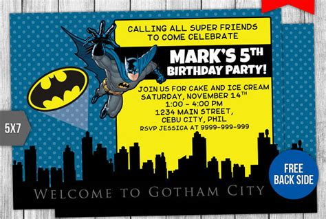 batman invitation designs jpg vector eps ai