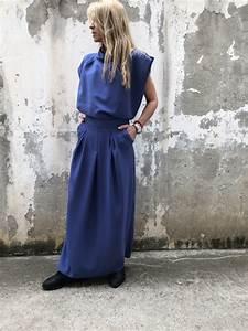 Italian Clothing Size Chart New Blue Summer Set Paradox Blue Blouse Slit Skirt