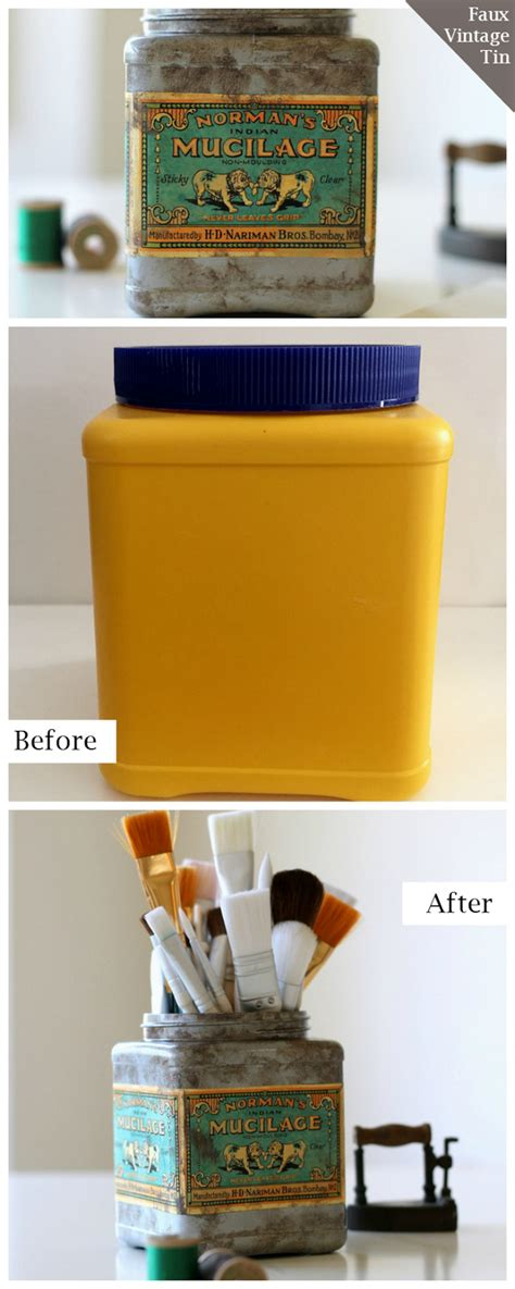 Recycling Und Upcycling Inspirationen by Upcycling How To Make A Faux Vintage Tin Lets