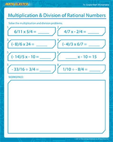 Addition And Subtraction Of Integers  Free Math Worksheets For Kids  Math Blaster