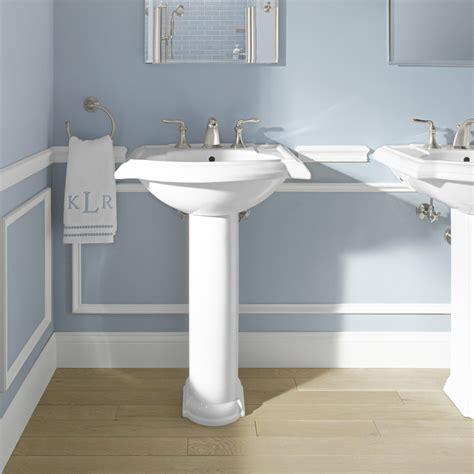 kohler pedestal sink kohler devonshire 24 quot pedestal bathroom sink reviews