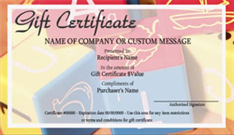 babysitting  infant care gift certificate templates