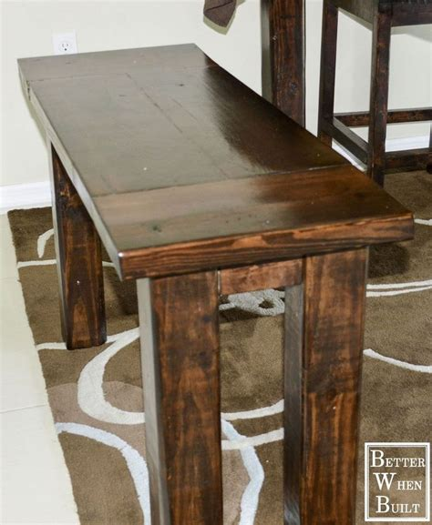 counter height kitchen table with bench diy counter height bench in 2019 farmhouse kitchen