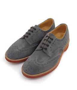 Gray Suede Oxford Shoes for Women