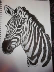 Zebra Drawing Sharpie