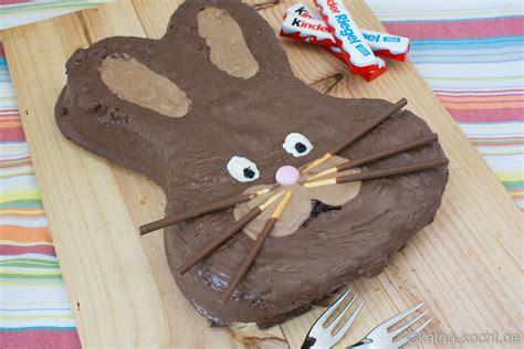 osterhasen kuchen kinderschokolade kuchen katha kocht
