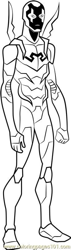 blue beetle coloring page  young justice coloring