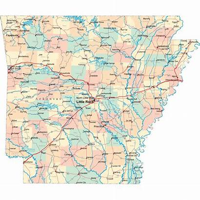 Arkansas Map Road Highway Rock Ar County