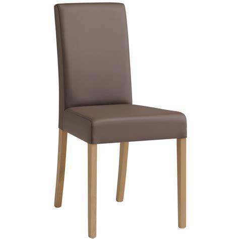 chaise à manger chaise de salle à manger contemporaine en pu gris lot de