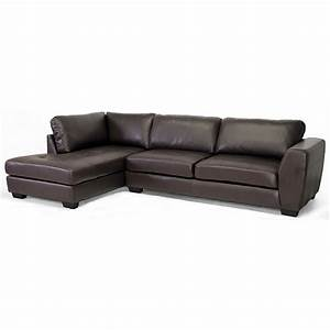 orland sectional sofa dark brown leather left facing With leather sectional sofa with left facing chaise