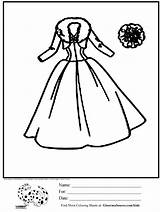 Coloring Pages Dresses Clipart Library Popular Coloringhome sketch template
