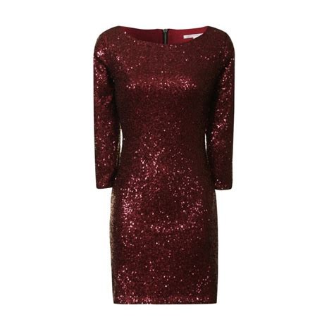 buy glamorous sequin midi dress burgundy