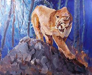 The Mountain Lion Painting by Yulia Hobriy