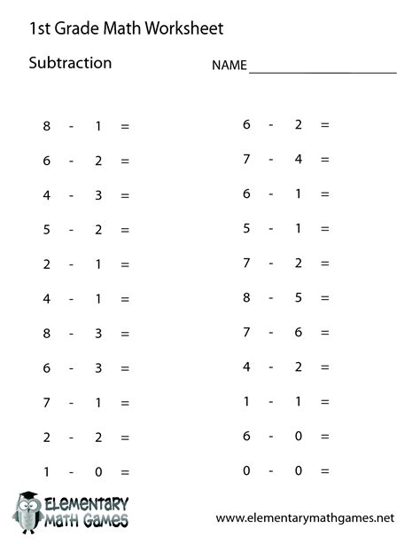 1st grade math worksheets 1st grade math worksheet