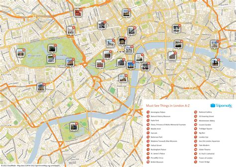 map  london    sights  attractions