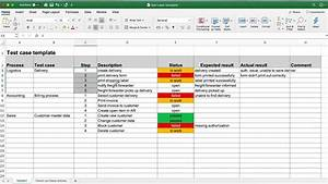 Test Case Template For Excel  Step By Step Guide