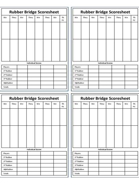 Download Bridge Child Template by Bridge Score Sheet 6 Free Templates In Pdf Word Excel