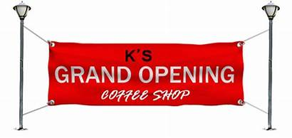 Opening Grand Banners Vinyl Attention Signs Draw