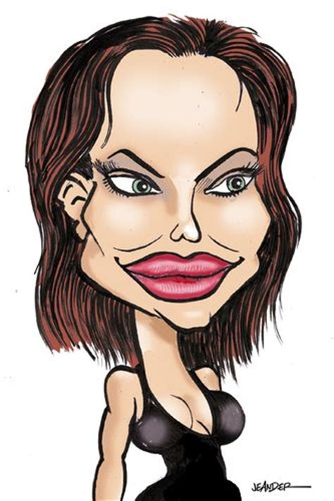 cartoon drawings  famous people cartoon angelina