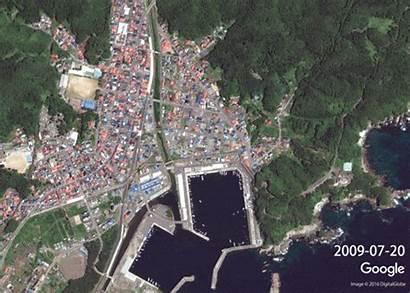 Tsunami Earthquake Japan Google Maps Aftermath Miyako