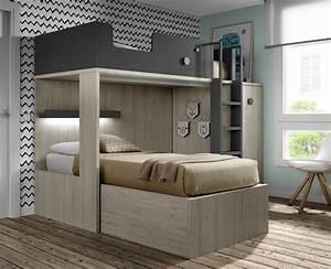 Lit Superposé Ado : lit superpos avec bureau amovible meubles ros meubles ros ~ Farleysfitness.com Idées de Décoration