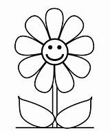 Coloring Flower Pages Easy Drawing Drawings Simple Flowers Hard Cute Draw Wallpapers Happy sketch template