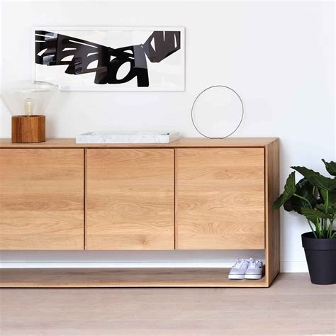 buffet kitchen furniture ethnicraft oak nordic sideboard