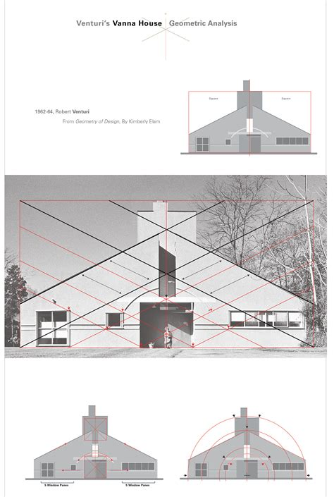 Robert Venturis Vanna House Geometric Analysis On Behance