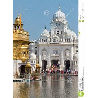 Sikh And Indian People Visiting The Golden Temple In