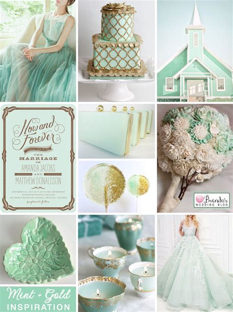Mint Green Weddings With Touches Of Gold Ideas And