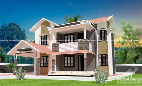 Modern Double Floor Home Designs  Kerala Home Design
