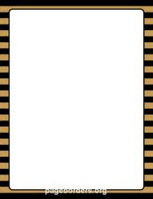Black and Gold Border Clip Art