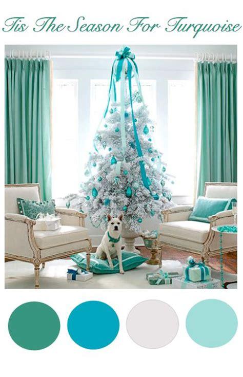 teal christmas turquoise  teal christmas tree  pinterest