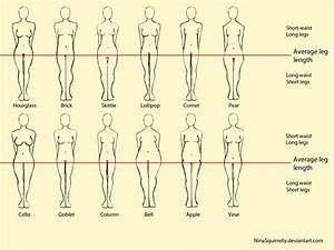 12 realistic woman body shape chart by NinaSquirrelly on ...