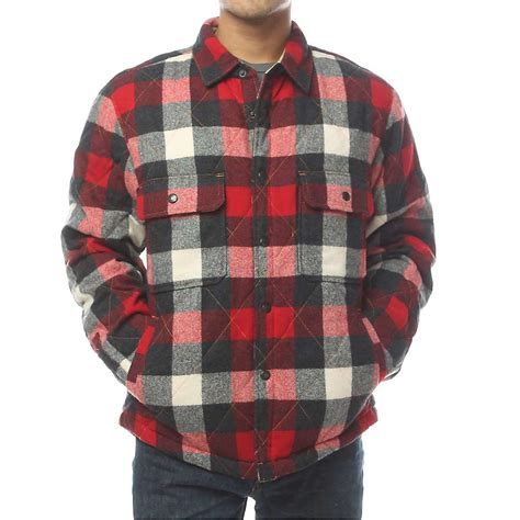 quilted shirt mens woolrich s quilted mill wool shirt jac moosejaw