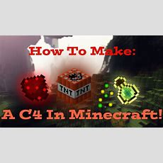 How To Make A Remote C4 In Minecraft (no Mods!) Youtube