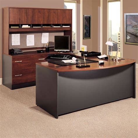 u shaped executive desk with hutch furniture u shaped wooden desk decor with rounded shades