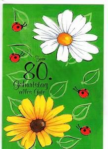 Besinnliches Zum 80 Geburtstag : geburtstagskarte zum 80 geburtstag karte mit umschlag klappkarte ebay ~ Frokenaadalensverden.com Haus und Dekorationen