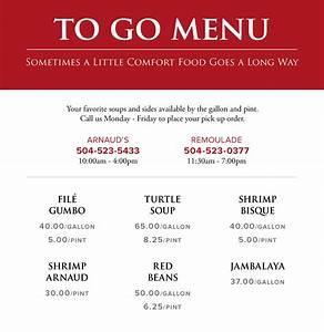 curbside menu arnaud 39 s restaurant