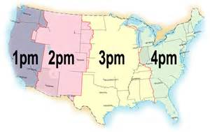 Us Time Zone Difference Map