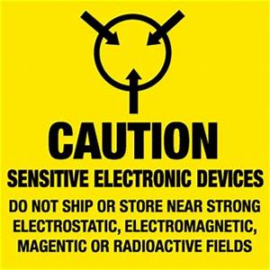 caution sensitive electronic devices shipping labels With electronic shipping label