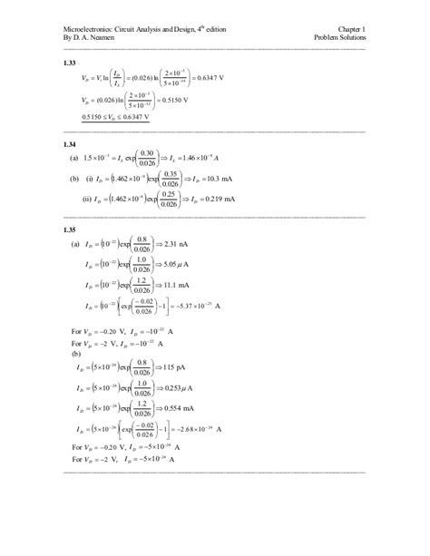 Microelectronics Circuit Analysis Design Donald Neamen