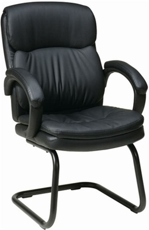 office eco leather sled base guest chair ec9235