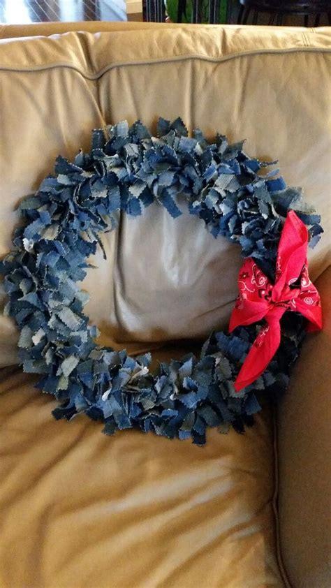 denim wreath   denim wreaths denim decor fabric